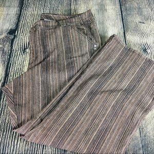 Venezia striped brown jeans size 24